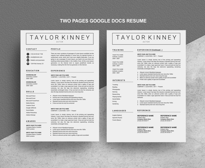 Two-Pages-Google-Resume
