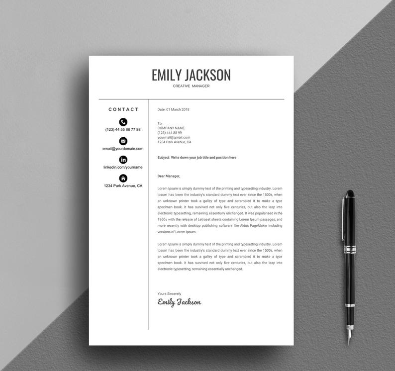 Resume Template, Google Docs Resume, Creative Google Docs Resume, Simple  Google Docs Resume Instant Download